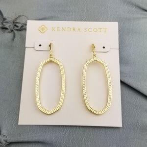 Gold, Kendra Scott, Elle, Open Frame,Earrings